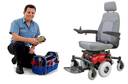 Power wheelchair and scooter repair service.